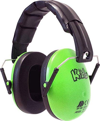 Edz Kidz Kinder Ohr Verteidiger. Ohrenschützer für Kleinkinder und Jugendliche (grün)