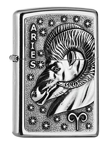 Zippo PL 207 Aries Tierkr. V19 Accendino, Ottone, Design, 5,83,81,2