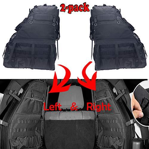 Preisvergleich Produktbild Seite Tür Mehrzwecktaschen Cargo Aufbewahrungstasche Satteltasche für Jeep Wrangler JK 4-türer 20072016 Werkzeug Kits Flasche Drink Phone Tissue Gadget Halterung