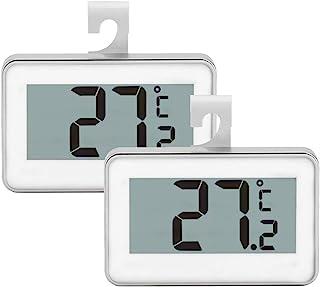Juego de 2 termómetros para frigorífico, monitor digital