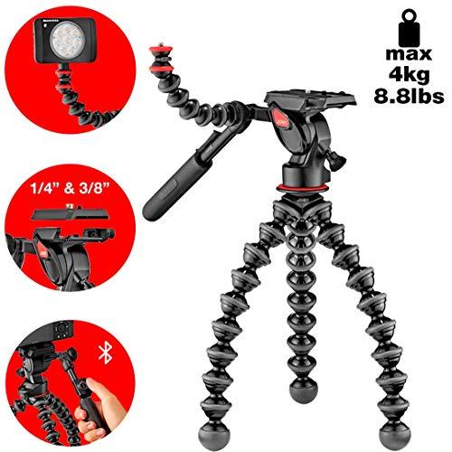 Joby GorillaPod JB01561-BWW – Kit 5K Vídeo Pro trípode profesional flexible de 2 vías para cámaras DSLR