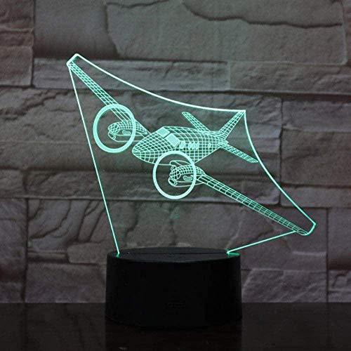 3D-Illusionslampe LED Nachtlicht Fernbedienung Boeing Air Plane 7 Farbe Visualfor Kids Touch USB Tablee Modell Flugzeug Flugzeug
