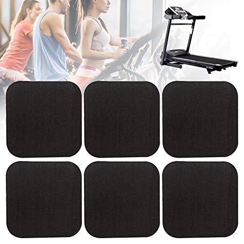 ZSooner - Almohadillas para amortiguación de cinta de correr, Juego de 6 unidades, antiabrasión, aislamiento acústico, protege el suelo, No nulo, negro, 6 unidades