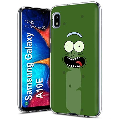 Case86 Slim Case for Samsung Galaxy A10E, Not for Galaxy A10, Green Pickle Face Design Light Weight, Full Edge Protection, Small Form Factor