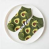 ZHANGNUO Aguacate Omelette Burger Sushi Manzana Planta Frutas Calcetines De Comida Cortos Divertidos Calcetines De Algodón Mujeres Verano Hombres Unisex Happy Socks Mujer OneSize/Beige