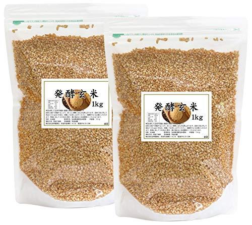 自然健康社 発酵玄米 2kg(1kg×2袋) 密封袋入り