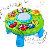 STOTOY Table D'apprentissage, Table d'activité Musicale pour les Tout-petits, 6 Mois + Table de Jeu Musicale pour Enfants, Jouet Sonore pour Bébé D'éducation Précoce, Cadeau pour Garçons Filles