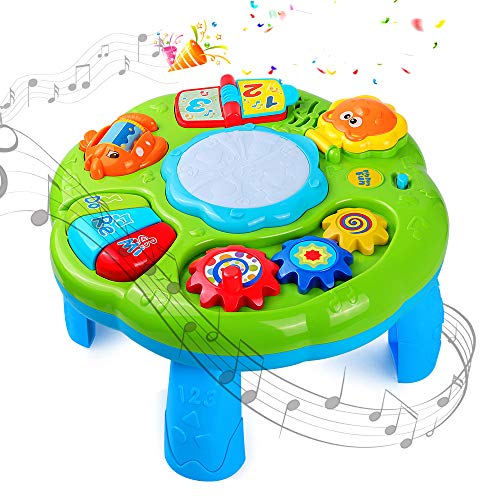 STOTOY Mesa de Aprendizaje , Mesa de Actividades Musicales para Cambiar de Bebé, 6 Meses + Mesa de Música para Niños, Juguete para Bebés con Sonido para Educación Temprana, Regalo para Niñas