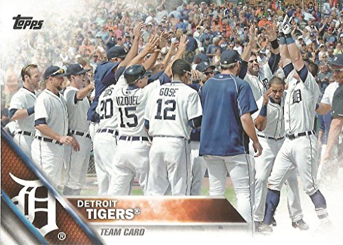 Detroit Tigers 2016 Topps MLB Baseball Regular Issue Complete Mint 20 Card...