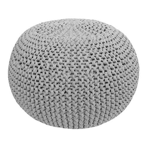 Hoooked Crafts Eco DIY Häkelbox Geschenk-Set – Pouf – Grau (Zpagetti)