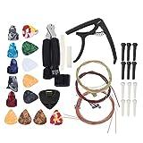 Kit de accesorios de guitarra profesional duradero Kit de herramientas de guitarra de plástico y metal Afinador compacto y ligero, para guitarras eléctricas, para ukeleles
