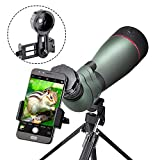 Landove 20-60X 80 Prism Spotting Scope- Waterproof...