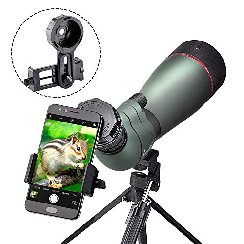 Landove 20-60X 80 Prism Spotting Scope- Waterproof Scope for Birdwatching Target Shooting Archery Outdoor Activities -with...