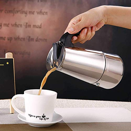cafetera acero inoxidable 6 tazas,Cafetera espressos en Acero inoxidable, (6tazas), se puede usas en todo tipo de cocina, Cafetera Clásica, Plata (PLATA-6T)