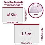 BILIEASY Lot de 10 sacs à litière pour chat avec cordons de serrage résistants aux rayures pour boîte à litière moyenne et grande taille (M, blanc)