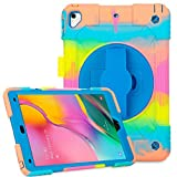 Samsung Galaxy Tab A 10.1 Case 2019 T510 Protective Shockproof Silicone Tablet Case with Ajustable Kickstand and 360...