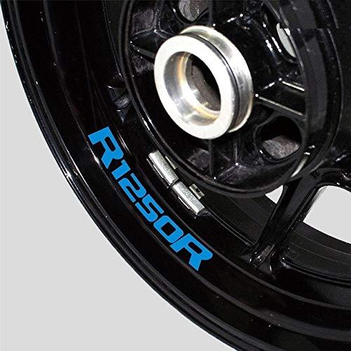 Luyangyund Protección de la motocicleta Interior del anillo de la rueda del logotipo de la etiqueta de la etiqueta de la etiqueta de la calcomanía de la etiqueta del logotipo del neumático de la llant