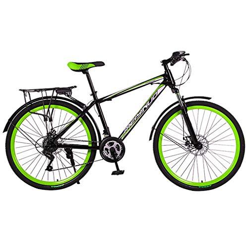 26 Zoll Mountainbike aus Kohlenstoffstahl,21 Gang-Schaltung, Gabelfederung, Kinderfahrrad,Jungen-Mädchen-Fahrrad & Herren-Damen-Fahrrad,Rahmentasche