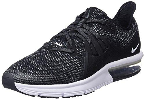 Nike Air Max Sequent 3 (Kids), Black/White/Dark Grey, 7 Big Kid