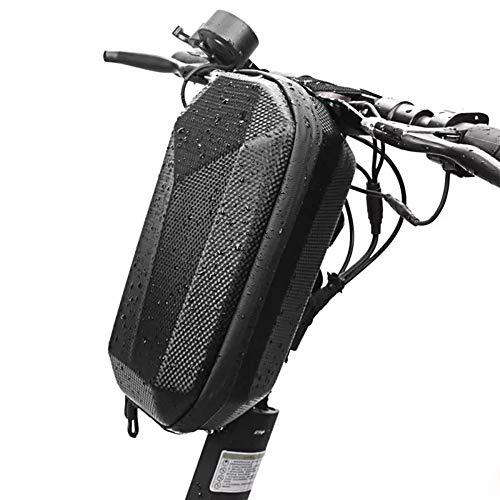 Bolsa de almacenamiento para scooter eléctrico para adultos, bolsa de tubo grande para manillar de scooter, bolsa de carcasa rígida, bolsa delantera impermeable de EVA, bolsa colgante para scooter elé