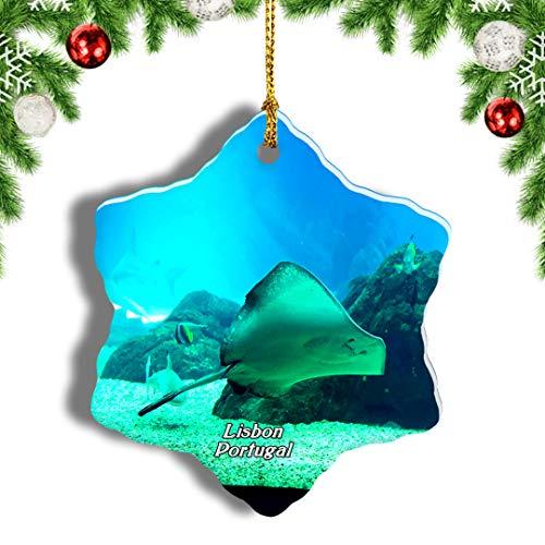 Weekino Portugal Aquarium Lissabon Weihnachten Anhänger Baum Weihnachtsdeko Baumschmuck zum Hängen Reiseandenken