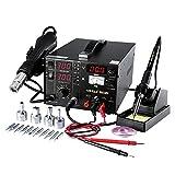 Stazione saldatura aria calda cannello 3 in 1 SMD attrezzatura per saldare con accessori Professionale 853D