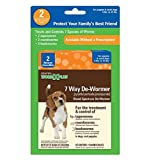 SENTRY HC WormX Plus 7 Way De-Wormer For Small Dog, 2 Chewable Tablets
