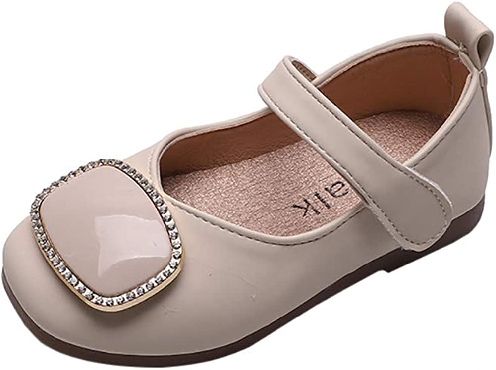 N/P Joeupin Little Kids Flower Girl Dress Shoes Mary Jane Flats for Wedding Party Princess
