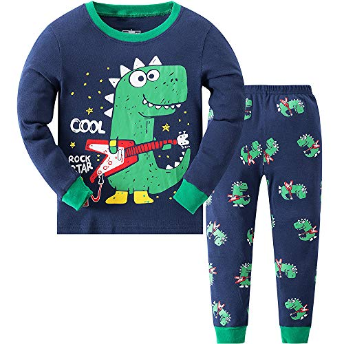 Image of Guitar Playing Dinosaur Pajamas for Boys - See More
