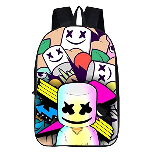 Marshmello Backpack?Conformity, Ergonomic, Adjustable Shoulder Strap Backpack?Suitable for Primary School, Nursery (Marshmello 3, Student Classes)