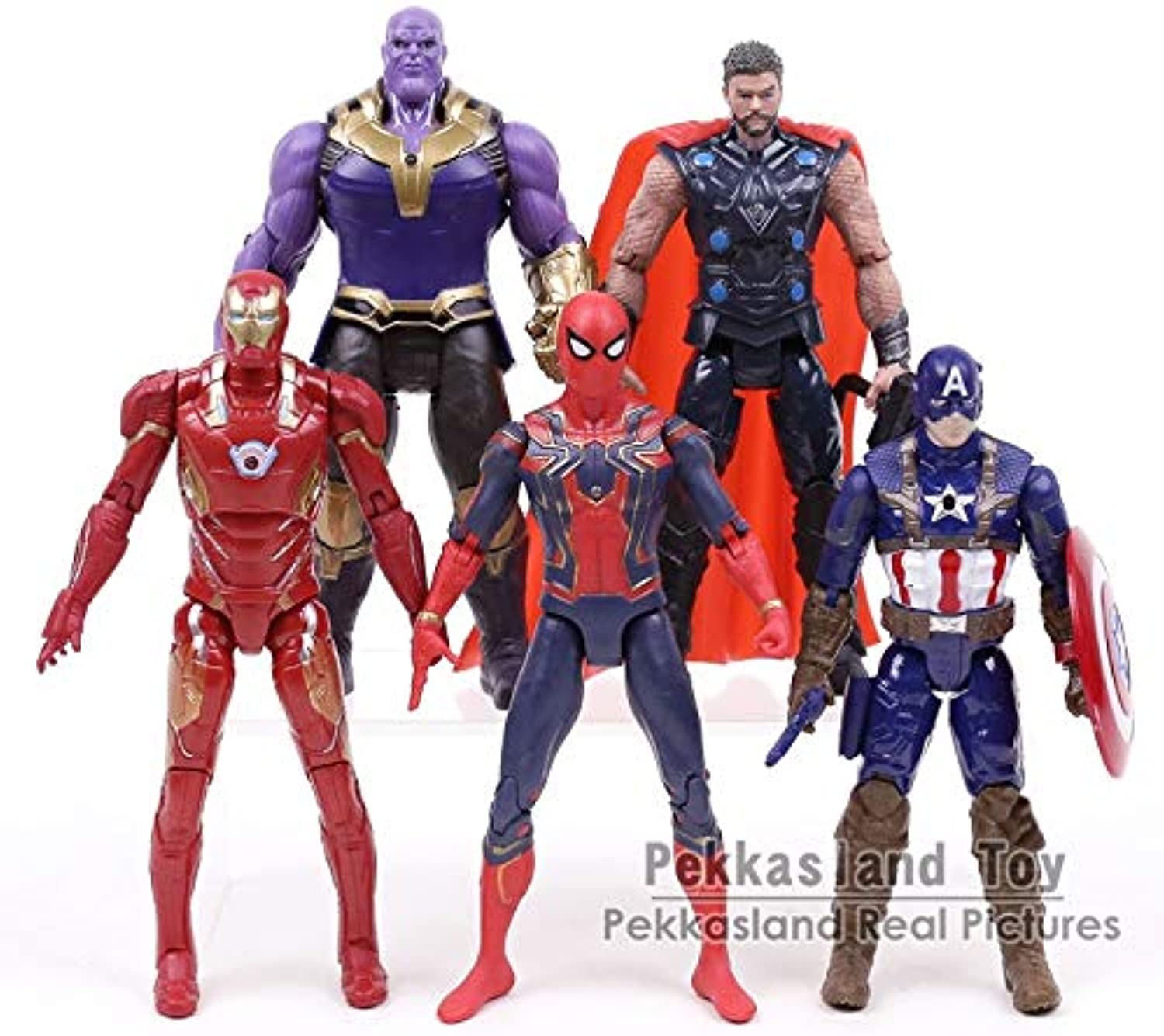 Avengers Infinity War Marvel Super Heroes Figures Toys Ron Man Captain America Hulk Thanos Spiderman Thor Vision Winter Soldier