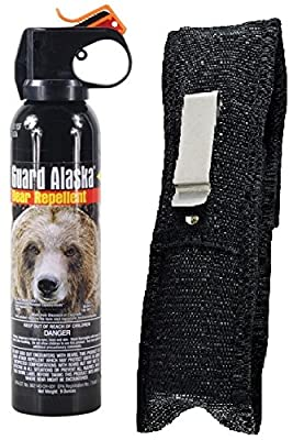 Guard Alaska 9 oz. Bear Spray Repellent & Pepper Enforcement Metal Belt Clip Holster by Personal Safety Corporation