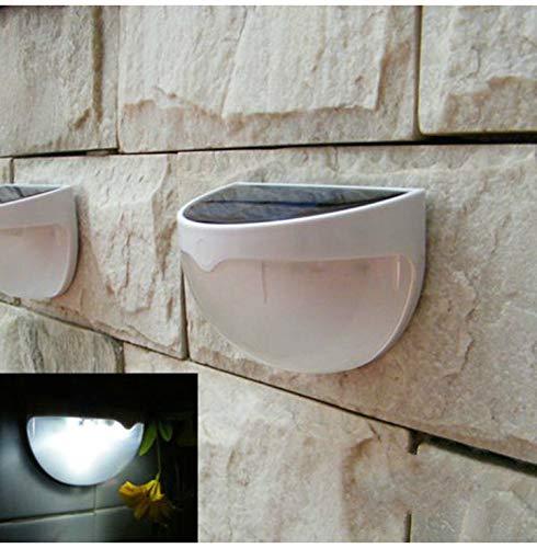 Solar-Gartenleuchten, Solar-LED-Licht, für den Außenbereich, Zaun, Dach, Treppe, Wandmontage, Hoflampe, solarbetrieben, Zaun, Dachrinne, Garten, Hof, Wandlampe