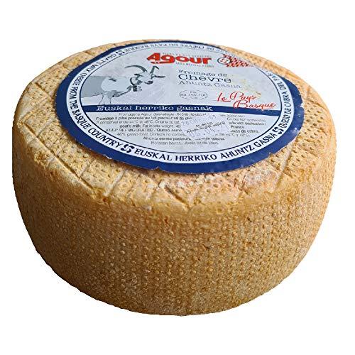 Queso de Cabra del País Vasco Frances - Peso Aproximado 3,1 Kilogramos - Elaborado por el respetado AGOUR, uno de los productores más laureados de todo el mundo en el World Cheese Awards