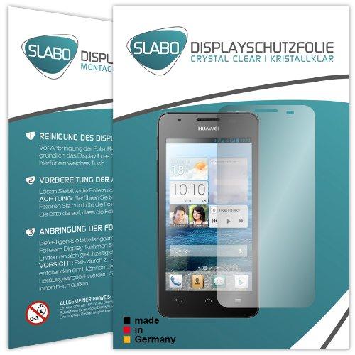 Slabo 2 x Bildschirmschutzfolie Huawei Ascend G525 Bildschirmschutz Schutzfolie Folie Crystal Clear unsichtbar Made IN Germany