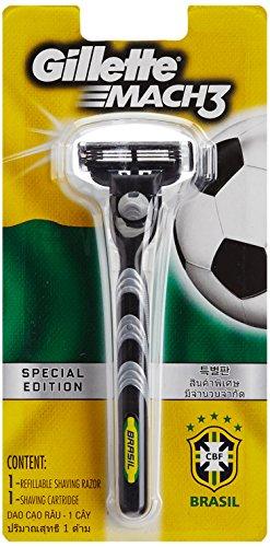 Gillette MACH3Rasierer-Griff, Rasierklinge, Rasierhobel, Brasilien WM Edition