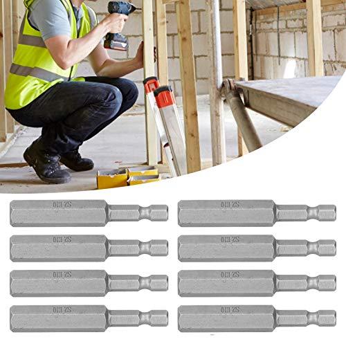 Cabeza de destornillador eléctrico, 8 puntas de destornillador magnético de 10 mm para una operación simple y rápida para una eficiencia de trabajo
