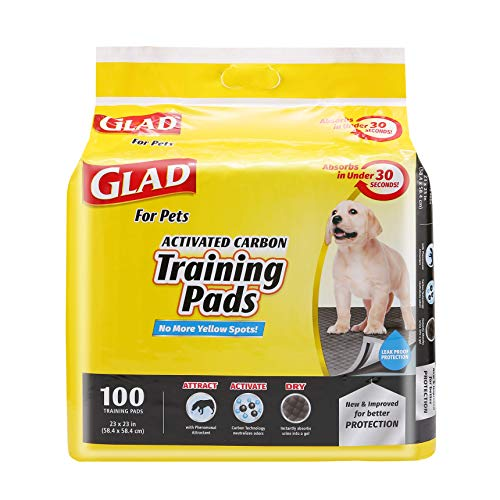 Glad for Pets Black Charcoal Puppy Pads | Puppy Potty Training Pads That ABSORB amp NEUTRALIZE Urine Instantly | New amp Improved Quality 100 count