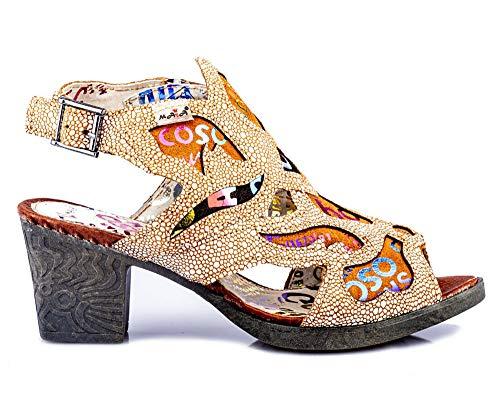 TMA 1109 Damen Sandaletten Leder braun - EUR 39