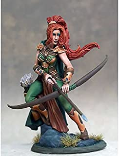 Female Ranger With Bow Miniature Visions In Fantasy Dark Sword Miniatures
