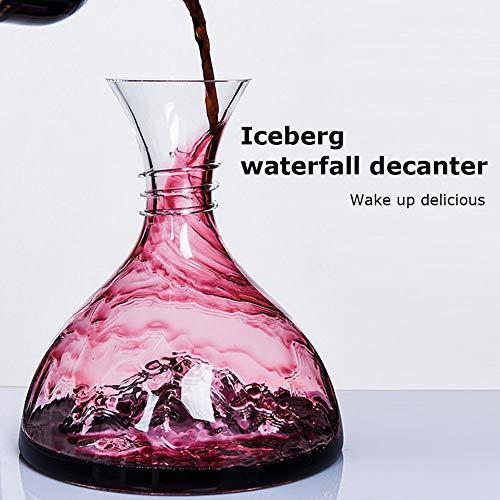 zhixing Iceberg Décanteur Carafe à Décanter en Cristal sans Plomb Aérateurde de Vin Accessoires...