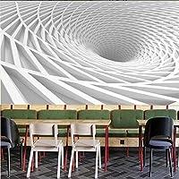 現代技術抽象的な建築トンネル白い背景壁紙家の装飾3Dリビングルーム寝室壁画壁紙3D,350(W)*256(H)Cm