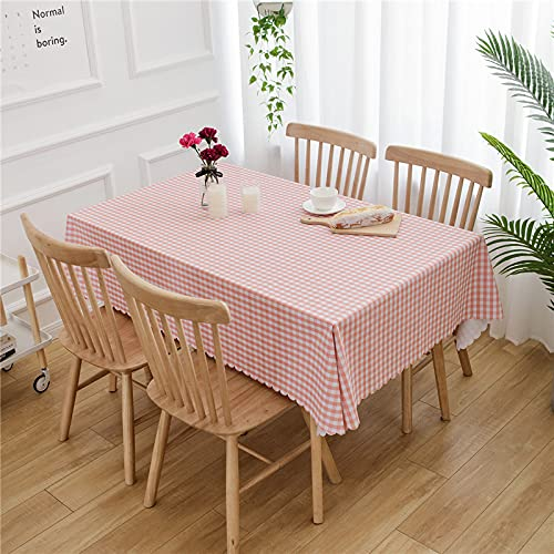 XGguo Manteles de Mesa para Fiesta Antimanchas Resistente a Líquidos de Estilo Moderno para Mesa Celosía de PVC Impermeable pequeña y Fresca