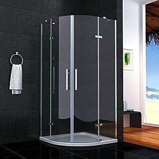Cabina de ducha semicircular mamparas de baño 6mm cristal