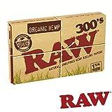 RAW(ロー) オーガニックヘンプ 300's ペーパー 300枚入り ×2個セット 手巻きタバコ 喫煙具