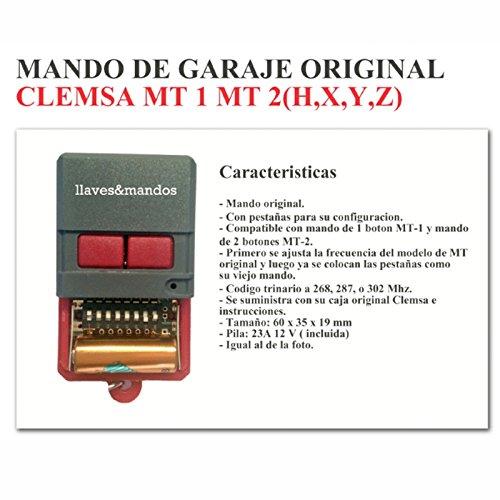 Mando Garaje Original CLEMSA CELINSA Saw CYACSA DATAVID IGUEL JCM - Binario TRINARIO - Mandos Antiguos con Pestañas MD20. NO Compatible con QUARZ/Cuarzo