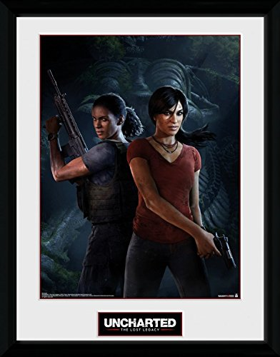 1art1 Uncharted - The Lost Legacy, Cover Póster De Colección Enmarcado (40 x 30cm)