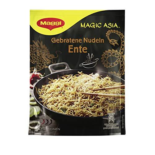 Maggi Magic Asia Gebratene Nudeln Ente, leckeres Fertiggericht, Instant-Nudeln, mit würziger Ente & Gemüsestückchen, asiatisch gewürzt, 11er Pack (11 x 119g)