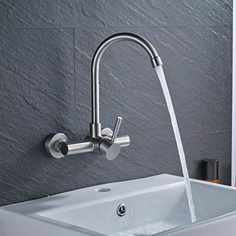 Ayhuir Einhand-Flexibler Schlauch-Küchen-Hahn-Wand-Angebrachter 360 Grad Drehen Badezimmer-Küchenmischer Heien Und Kalten Hahn