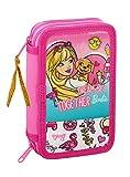 Barbie Celebration - Astuccio per la scuola ufficiale con 28 pezzi, 125 x 40 x 195 mm